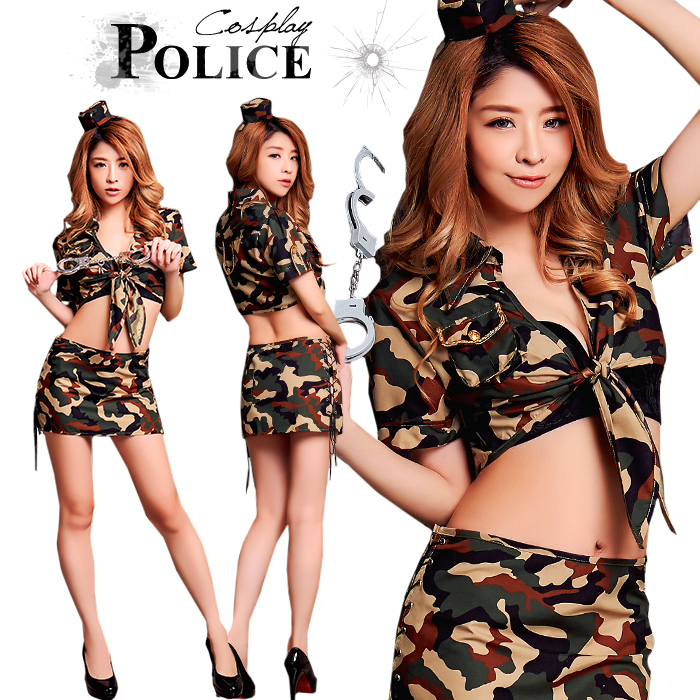 ... the Halloween costume play police army uniform costume play clothes  disguise costume army sexy camouflage miniskirt police sexy woman lady's  party event