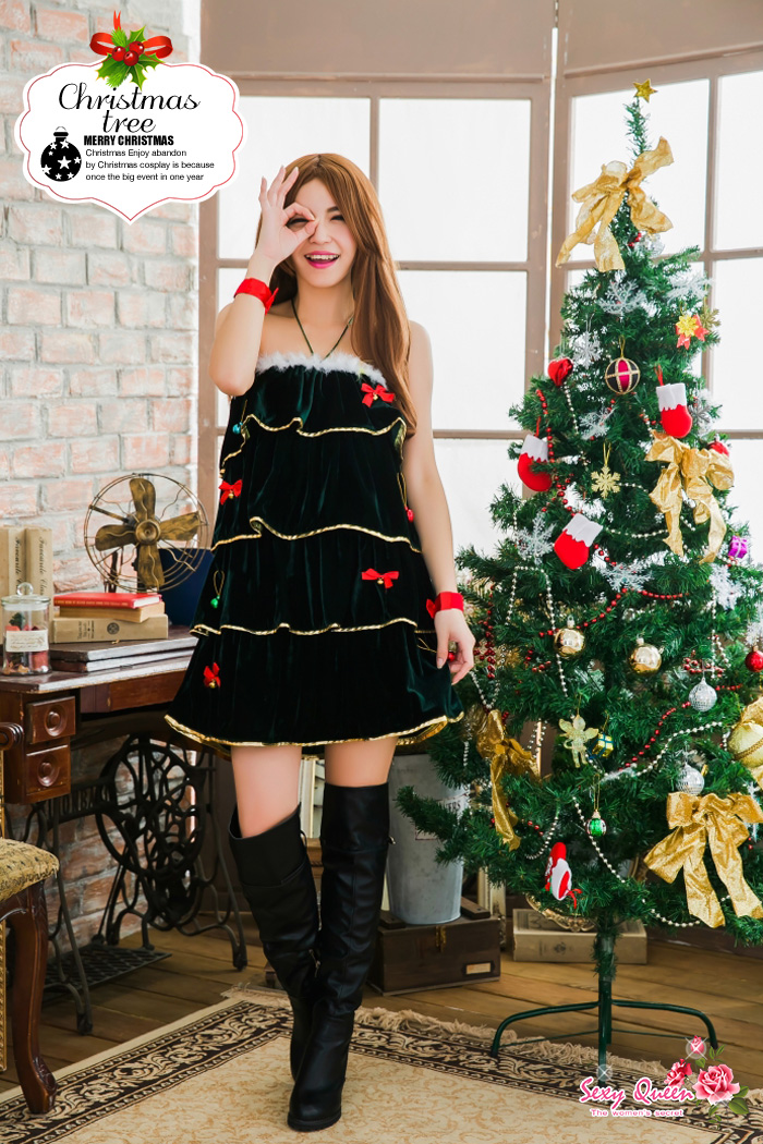 christmas tree costume play costume tree christmas clothes disguise koss big size christmas costume play christmas - Christmas Tree Costume