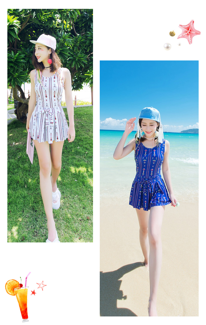 c63fa196596d Entering swimsuit figure cover big size dress mom 2017 latest lady s ethnic  native arrow pattern back difference back ribbon m xl l wire pat short  pants one ...