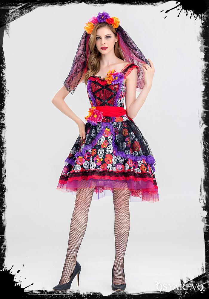 Ladyu0027s こすぷれ Cosplay For Costume Zombie Bride Costume Play Bride Halloween  Clothes Halloween Disguise Costume Play Clothes アニメセクシーゴスロリゾンビ ...