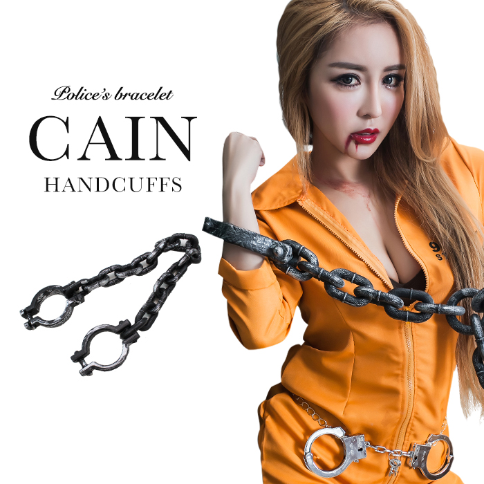 halloween costume play handcuffs toy chain sexy prisoner costume clothes disguise accessory ladys police cosplay costume animation halloween goods