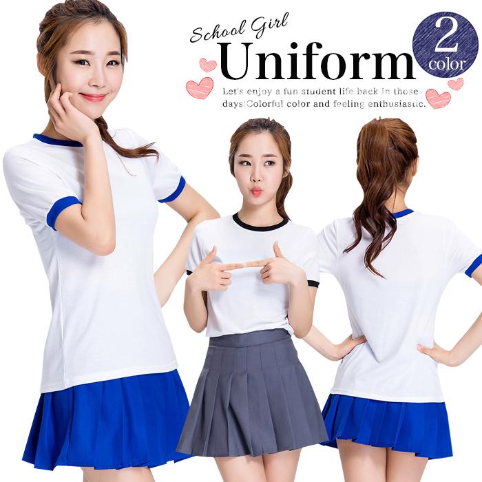 20e4bd329 Pleated skirt set uniform school uniform school ska bread girls' high school  clothes sexy high ...