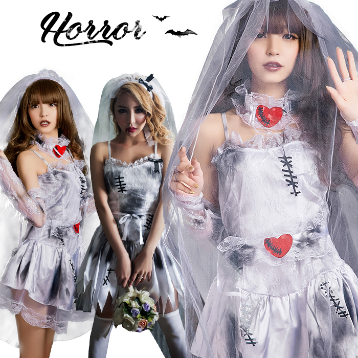 Size Bride Dress Mail Order M XL 2L That A Halloween Costume Play Bride  Zombie Costume Disguise Ghost Bride Zombie Costume Play Halloween Disguise  Costume ...