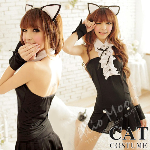 The Cat Maid Who Shows Cute Halloween Cat Costume Play Disguise Ladys Black Cat Costume Black