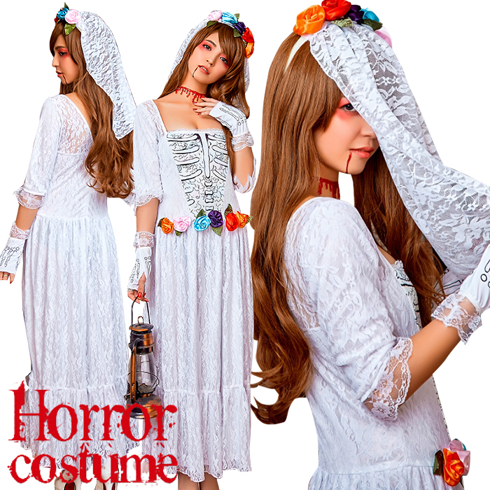 Ghost Bride Ladyu0027s Halloween For Halloween Bride Costume Play Zombie Costume  Disguise Clothes Horror Adult