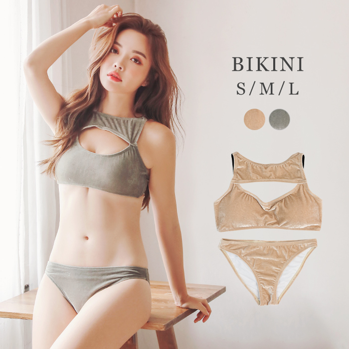 7a06f86a9539d The non-wire chubby sexy adult girl plain fabric 2019 new work swimsuit  which there ...