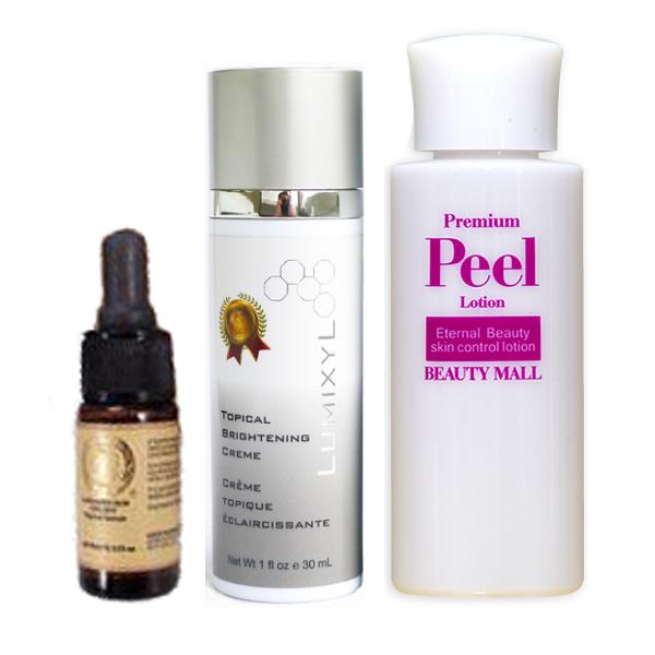 "Lumixyl cream 30 ml + Senthil beauty pussy C ' ensil la-25 + Peel lotion premium PEEL, 100 ml? s BEAUTY MALL."""