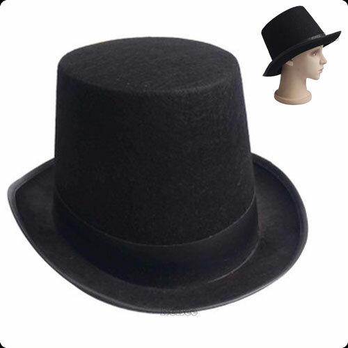 山高帽 ハット チャップリン 帽子<BR>メンズ 大人 男性 女性<BR>大きい かわいい 可愛い おしゃれ お洒落<BR>パーティー帽子 イベント パーティー 余興 ダンス コンテスト<BR> 結婚式 発表会 演奏会 舞台衣装 コスチューム 仮装