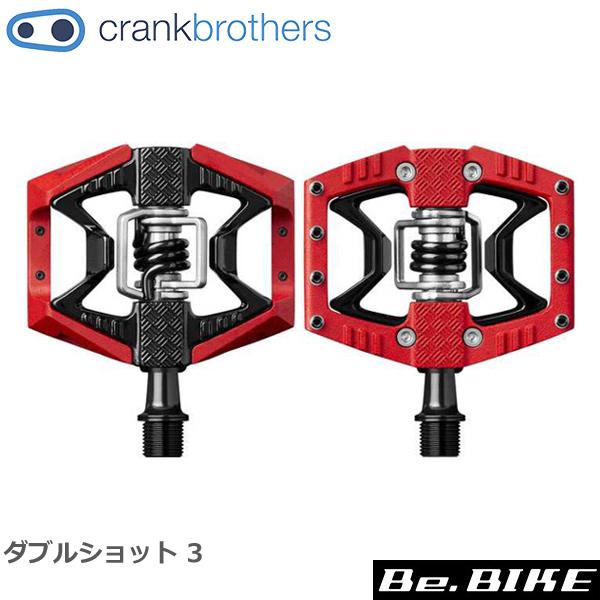 Crank Brothers(クランクブラザーズ) ダブルショット 3 ペダル レッド/ブラック(641300161109) 自転車 ペダル ビンディングペダル