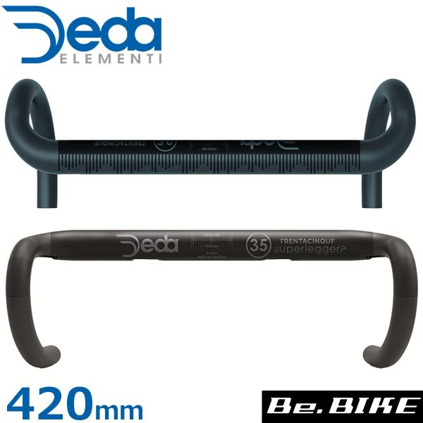 DEDA(デダ) スーパーレジェラ RHM カーボンバー(35mm)(2018) ブラック 420mm(外-外) 自転車 ハンドル ドロップハンドル