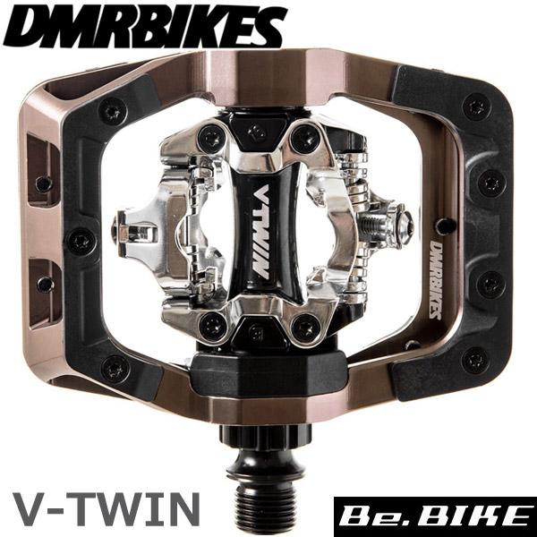 DMR BIKES V-TWIN PEDAL-ニッケルグレー 自転車 ペダル(ビンディングペダル)