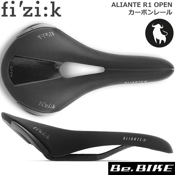 fi'zi:k(フィジーク) ALIANTE R1 OPEN カーボンレール for ブル ラージ ブラック(70D2SA03A02) 自転車 サドル