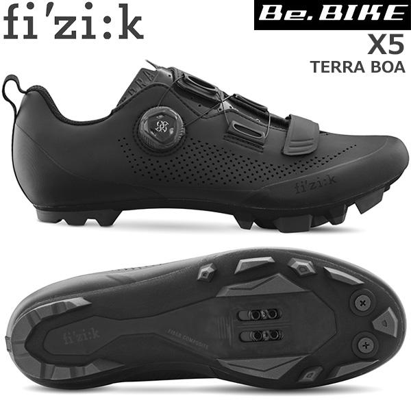 fi'zi:k(フィジーク) X5 TERRA BOA ブラック/ブラック 自転車 シューズ MTB マウンテンバイク用