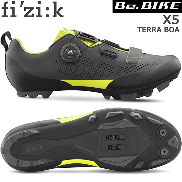 fi'zi:k(フィジーク) X5 TERRA BOA グレー/イエロー 自転車 シューズ MTB マウンテンバイク用