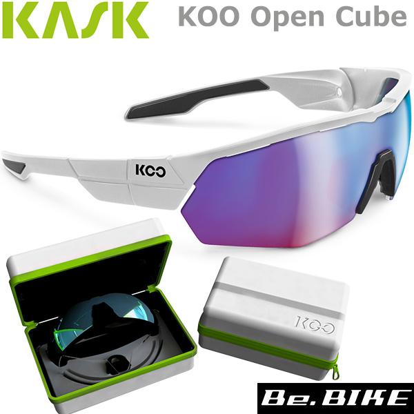 カスク(KASK) OPEN CUBE ホワイト/ブラック 自転車 サングラス アイウエア