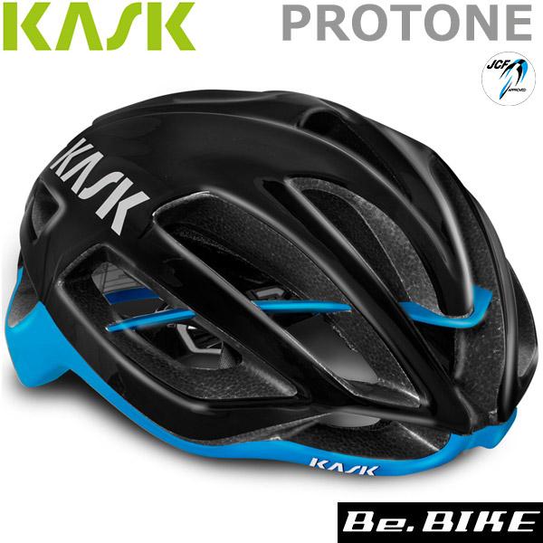 カスク(KASK) PROTONE ブラック/ライトブルー 自転車 ヘルメット
