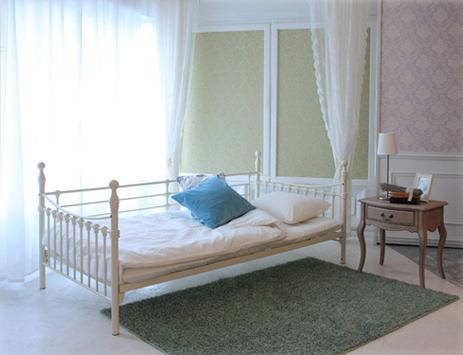 ベッド ダブル フレーム FAIRY フェアリー エレガントスチール 2段ベッド フレームのみ(代引不可)【送料無料】