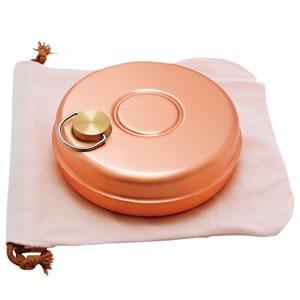 純銅製ミニ湯たんぽ