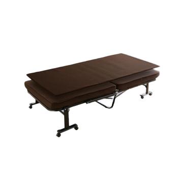 アイリスオーヤマ 折りたたみベッド ベッド ブラウンOTB-MTN(代引き不可)【送料無料】