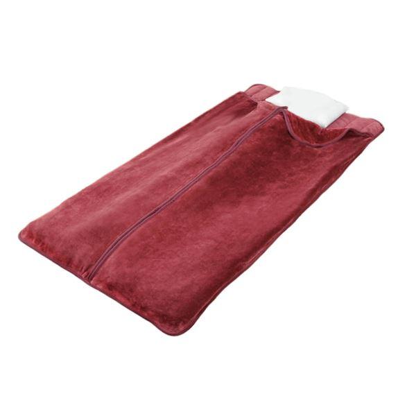 遠赤綿入りあったか寝袋タイプボリューム敷パッド2色組(ブラウン+ワイン)【代引不可】