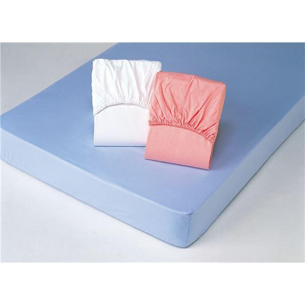 平織ボックスシーツ 【シングルサイズ】 [同色2枚組み/ ピンク] 綿100%【代引不可】
