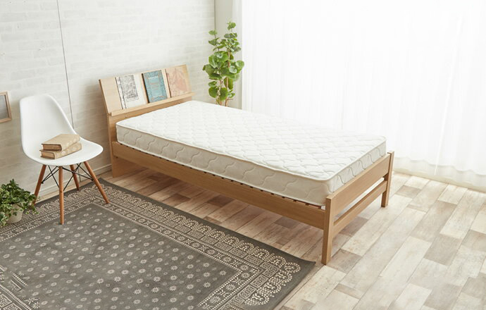 ベッド シングル マットレス 超高密度ハイグレードポケットコイルマットレス シングル 【シングル】(代引不可)【送料無料】