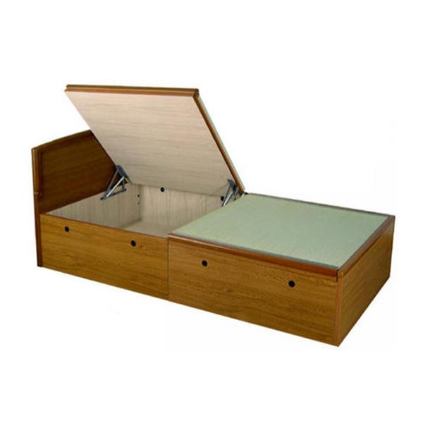 【組立設置サービス付き】 大量収納跳ね上げ式畳ベッド パネルタイプ セミダブル(代引不可)