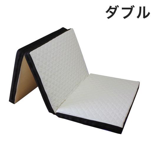 日本製 アキレス ダブル カチカチ キルトマットレス 国産 マットレス かたい かため シンプル ベッド 収納 カバー洗濯可能(代引不可)【送料無料】