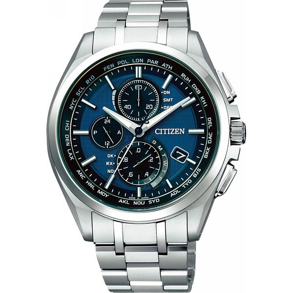 シチズン アテッサ ダイレクトフライト メンズ電波腕時計 ブルー アテッサ 装身具 紳士装身品 紳士腕時計 AT8040-57L(代引不可)【送料無料】