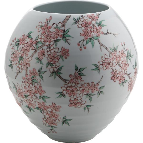 福丈窯 桜 花瓶 室内装飾品 花瓶 和陶花瓶 03029(代引不可)【送料無料】