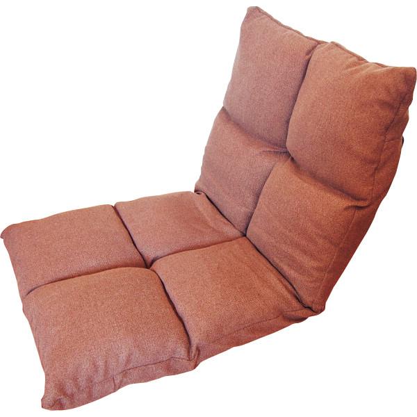 高反発フリーリクライニング座椅子 ブラウン 木製品 家具 ソファ 座椅子 肘なし座椅子 KPGCR-168BR(代引不可)【送料無料】