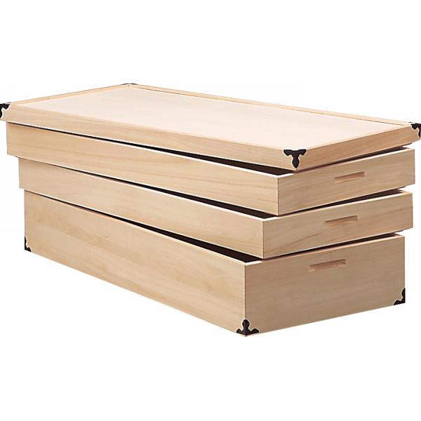 桐衣裳ケース 木製品 家具 タンス チェスト 桐製衣裳箱 KR-9(代引不可)【送料無料】