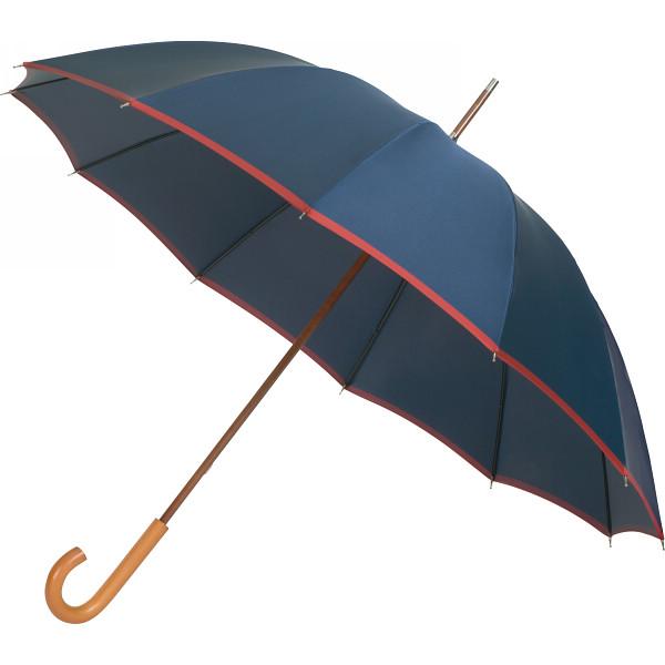 日本の職人手作り 甲州織手開き 長傘12本骨 ネイビー×レッド 日本の職人手作り 雨具 長傘 婦人長傘 HM200AD(代引不可)【送料無料】