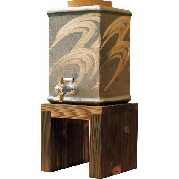 信楽焼 モダン 角焼酎サーバー 和陶器 和陶バラエティー 和酒器セット G5‐3301(代引不可)【送料無料】