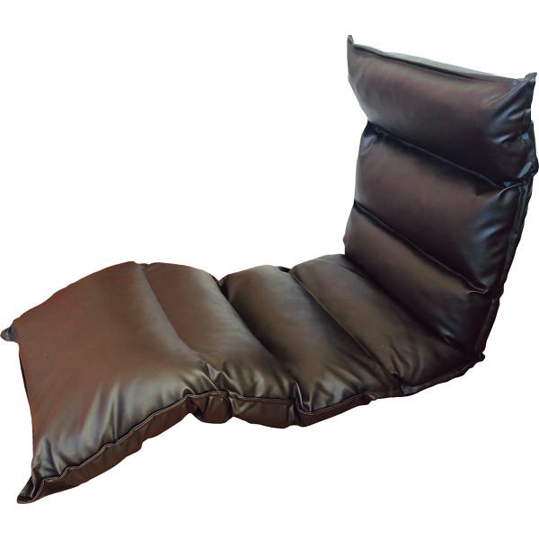高反発フリーリクライニング座椅子 ブラウン 木製品 家具 ソファ 座椅子 肘なし座椅子 KPGCR-LE295BR(代引不可)【送料無料】