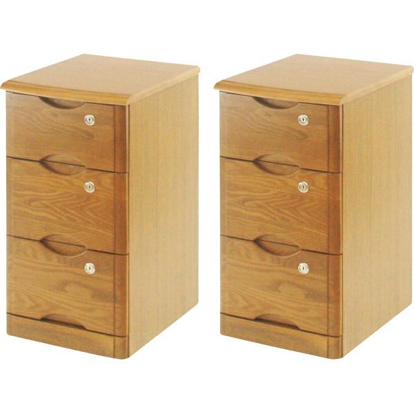 タモ材 天然木チェスト 2台セット 木製品 家具 木製箱製品 和調小物タンス 40-083×2(代引不可)【送料無料】