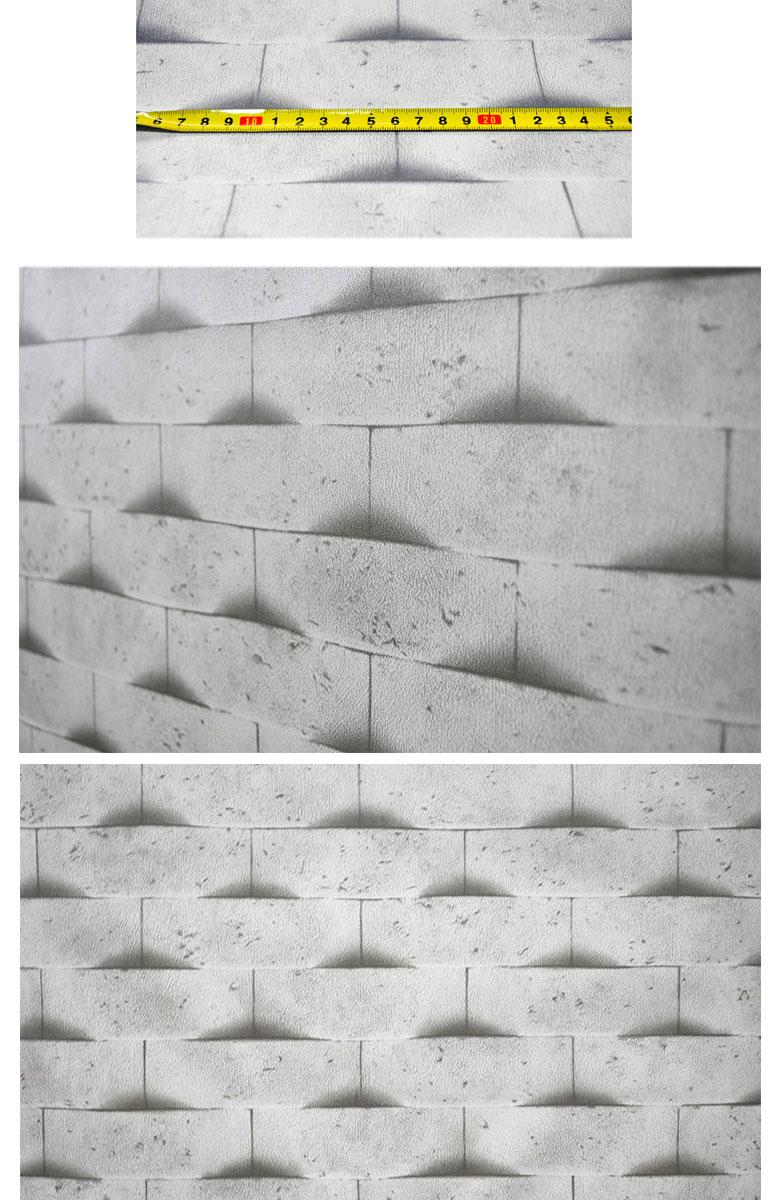 貼ってはがせる 壁紙 引越し Diy シール 立体レンガ 1m はがせる のり付 幅50cm インテリア 寝室 レンガ キッチン シールタイプ リフォーム ウォールステッカー 公式ストア