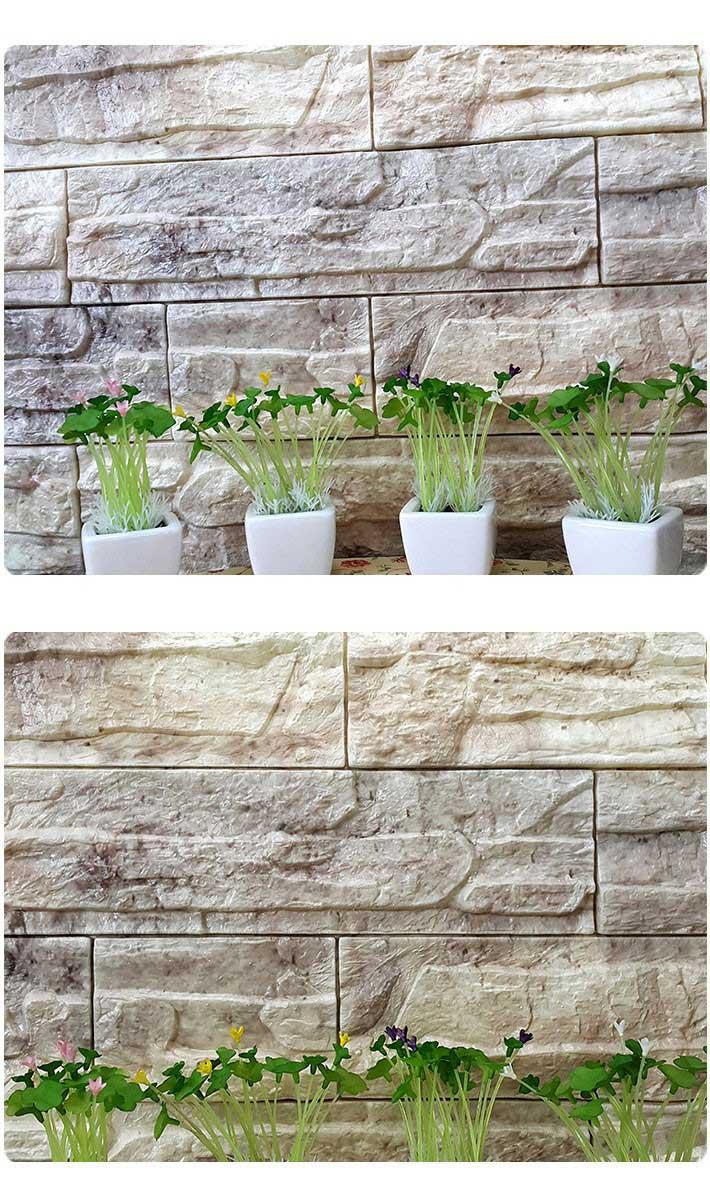 開梱 設置 無料 レンガ柄 立体壁紙 貼る 壁 レンガ ブロック