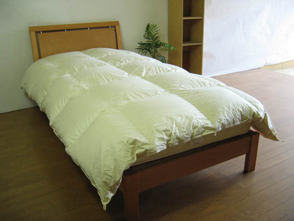 ウォーターベッド用・羽毛布団-セミダブルロングサイズ-別注OK、175x230cm