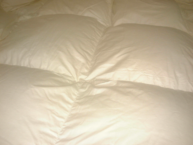 ●国産無地超長綿100%ベッド用羽毛合掛けふとんハンガリーホワイトグースダウン97%ダブルサイズ★