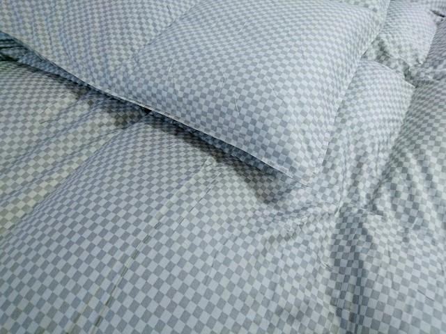 ●国産ダブルサイズウォッシャブル羽毛肌掛け布団アウトレット大処分・ピレネー産ダウン80%ダブルリヨセル生地使用、18枚限定、立体縫製