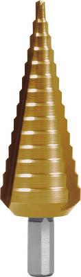 RUKO 3枚刃ステップドリル 30mm チタン 【1本】【101352T】(穴あけ工具/ステップドリル)