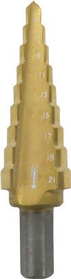 エビ ステージドリル コーティング 9段 軸径10mm 【1本】【LB521G】(穴あけ工具/ステップドリル)