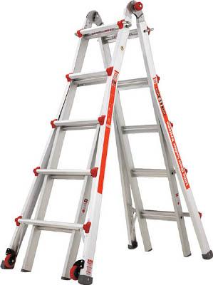 ハセガワ アルミ合金製伸縮式はしご兼用脚立 【1台】【LG10303】(はしご・脚立/脚立)