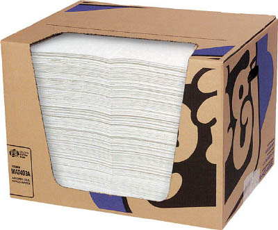pig ピグ油専用エコノミーマット ミシン目入り (100枚/箱) 【1箱】【MAT403A】(清掃用品/吸収材)