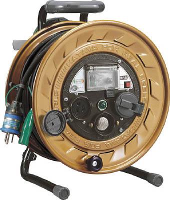 ハタヤ メタルセンサー(金属感知機能付)リール 単相100V接地付 30m 【1台】【MSB301KX】(コードリール・延長コード/コードリール感知機能付)