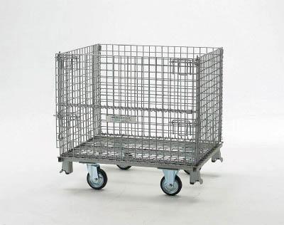 TRUSCO(トラスコ) ネットパレット 車輪付 1000X800X955 クロムフリー 【1台】【T0810GS】(コンテナ・パレット/メッシュパレット)