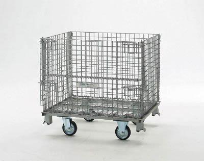 TRUSCO(トラスコ) ネットパレット 車輪付 1200X1000X995 クロムフリー 【1台】【T1012AGS】(コンテナ・パレット/メッシュパレット)