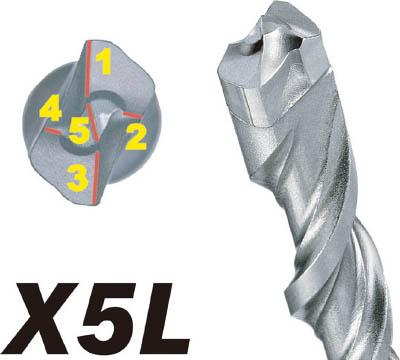 お求めやすく価格改定 SDSプラスビットX5L 6.0×165 激安通販専門店 1本 コンクリートドリル 穴あけ工具 X5L060165