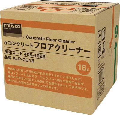 TRUSCO(トラスコ) αコンクリートフロアクリーナー 18L 【1個】【ALPCC18】(清掃用品/床用洗剤)